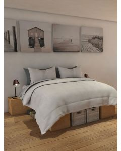 Queen size bed with nightstands - Cascais
